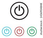 power button icon vector... | Shutterstock .eps vector #1436904848