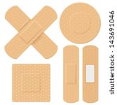 illustration of medical bandage ... | Shutterstock .eps vector #143691046