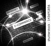 e commerce. word cloud concept... | Shutterstock .eps vector #143691856