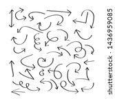 arrow set doodle style vector   Shutterstock .eps vector #1436959085