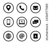 set of web icon symbol vector | Shutterstock .eps vector #1436977085