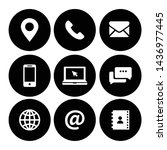 web icon symbol vector for... | Shutterstock .eps vector #1436977445