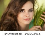 beautiful happy woman girl... | Shutterstock . vector #143702416