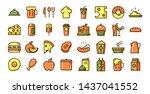 food icon set vector. icon... | Shutterstock .eps vector #1437041552