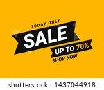 sale promotion banner  offer... | Shutterstock . vector #1437044918