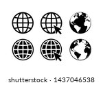 globe icon symbol set  go to... | Shutterstock .eps vector #1437046538