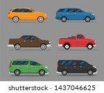 car icon vector logo template.... | Shutterstock .eps vector #1437046625