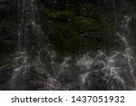 water from waterfull  clouse up | Shutterstock . vector #1437051932