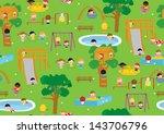 playground illustration... | Shutterstock .eps vector #143706796