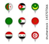 set of map flag icon  vector | Shutterstock .eps vector #143707066