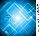blue hi tech abstract design   Shutterstock . vector #143707675