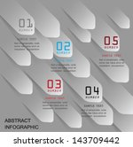 modern vector template data  ... | Shutterstock .eps vector #143709442