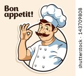 illustration of a chef | Shutterstock .eps vector #143709808
