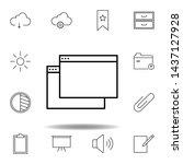 app window outline icon....