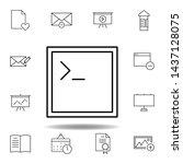 app code window outline icon....