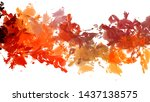 brushed painted abstract... | Shutterstock . vector #1437138575