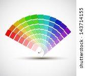 color palette isolated on white ... | Shutterstock .eps vector #143714155