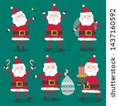 cute character santa claus... | Shutterstock .eps vector #1437160592