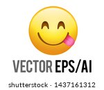 the isolated yellow smiley and... | Shutterstock . vector #1437161312