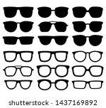 glasses silhouette. geek... | Shutterstock .eps vector #1437169892