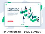 frequently asked questions....   Shutterstock .eps vector #1437169898