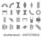 spring coils. metal spiral... | Shutterstock .eps vector #1437170012