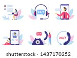 customer support. personal... | Shutterstock .eps vector #1437170252