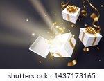 opened gift box  valentine's... | Shutterstock .eps vector #1437173165