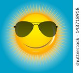 happy sun  background vector... | Shutterstock .eps vector #143718958
