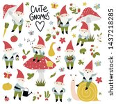 Gardening Set With Cute Gnomes...
