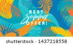 summer sale banner design. best ... | Shutterstock .eps vector #1437218558