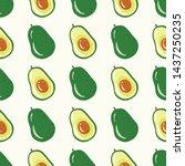 avocado seamless pattern for...   Shutterstock .eps vector #1437250235