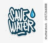 save water liquid drip drop... | Shutterstock .eps vector #1437266888