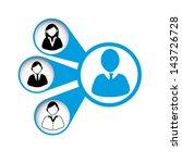 leadership design over white... | Shutterstock .eps vector #143726728
