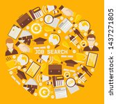 job search career recruitment... | Shutterstock .eps vector #1437271805