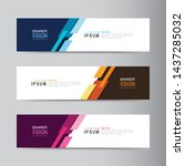 vector abstract banner design... | Shutterstock .eps vector #1437285032