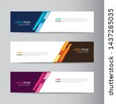 vector abstract banner design... | Shutterstock .eps vector #1437285035