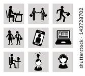 business icons over white... | Shutterstock .eps vector #143728702