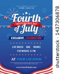 fourth of july invitation... | Shutterstock .eps vector #1437306878