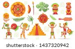 maya civilization culture set... | Shutterstock .eps vector #1437320942