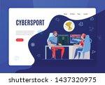 cyber sport concept banner...