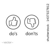 do's and don'ts icon  like ...   Shutterstock .eps vector #1437327812