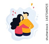 portrait of young couple in... | Shutterstock .eps vector #1437340925