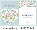 wedding invitation card with...   Shutterstock .eps vector #1437353165