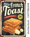 french toast restaurant sign .... | Shutterstock .eps vector #1437386348