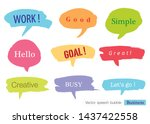 hand drawn set of speech... | Shutterstock .eps vector #1437422558