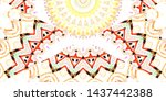 colorful abstract pattern for... | Shutterstock . vector #1437442388