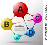 Circle relationship with ABCDE. Can use for business concept background / Object brochure / chemistry style / education
