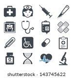 medicine icons set | Shutterstock .eps vector #143745622