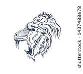 Angry baboons line art vector